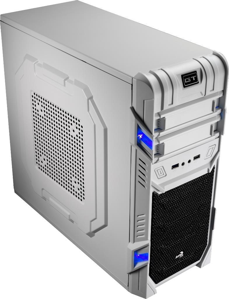 PC skříň Aerocool ATX GT ADVANCE WHITE, USB 3.0, bez zdroje