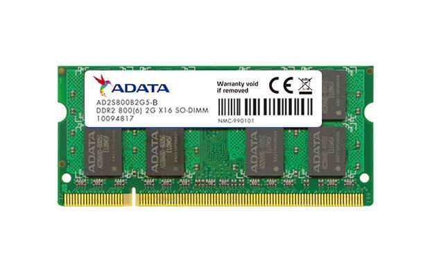 ADATA 2GB 800MHz DDR2 CL6 SODIMM 1.8V bulk