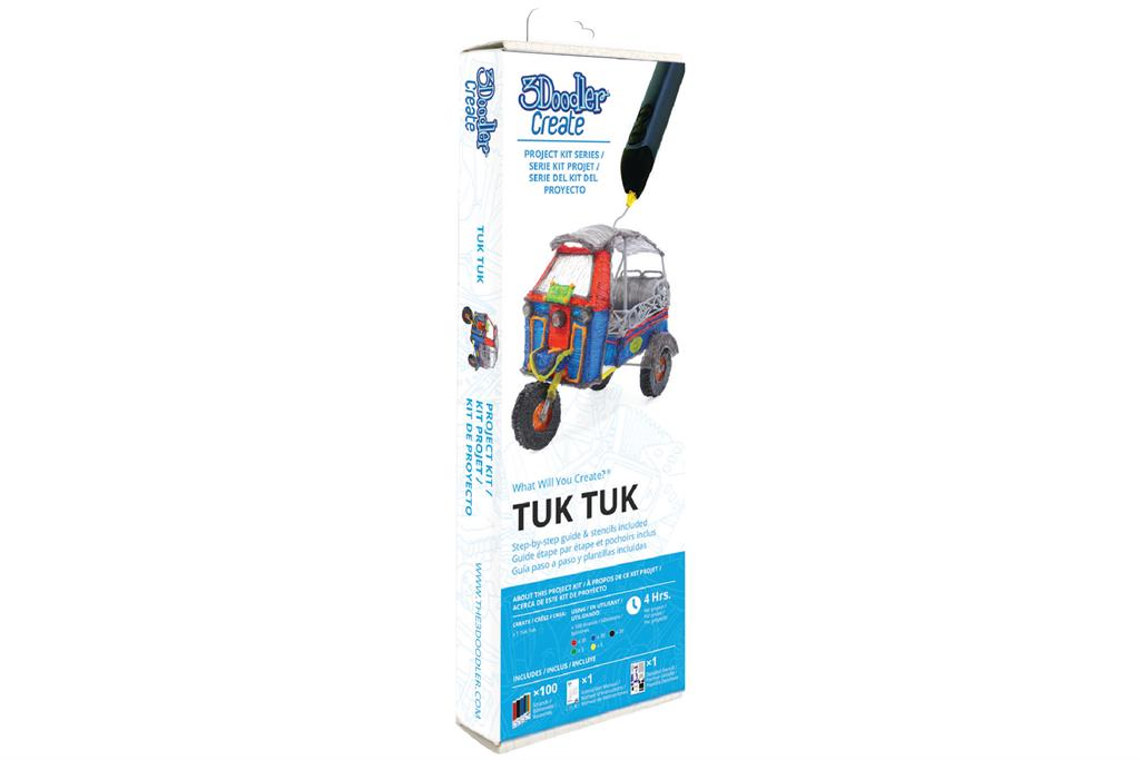 3DOODLER Project Kits to the 3Doodler Create, PRO, 2.0 & 1.0 Tuk Tuk