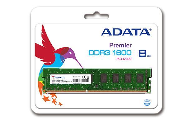 ADATA DDR3 8GB 1600MHz 11CL, 1,5V