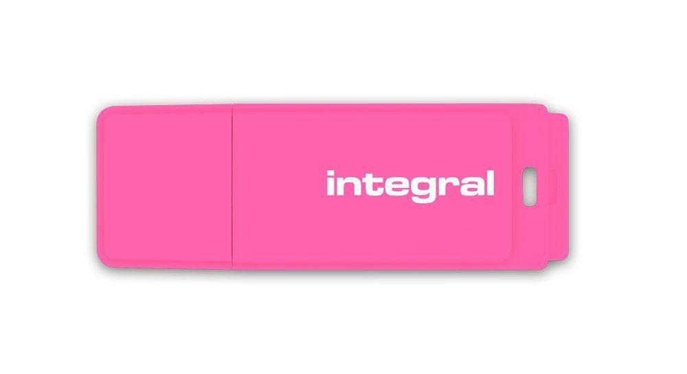 INTEGRALK USB Flash Drive Neon 8GB USB 2.0 - růžový