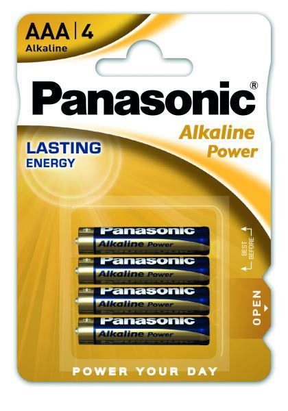 Panasonic LR03 Alkaline Power (alkalická; AAA; 1,5V; BL4) 4ks - Blister
