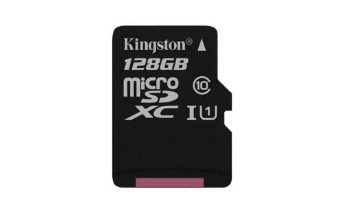 KINGSTON 128GB microSDXC Memory Card 45MB/10MBs- UHS-I class 10 Gen 2 - bez adaptéru