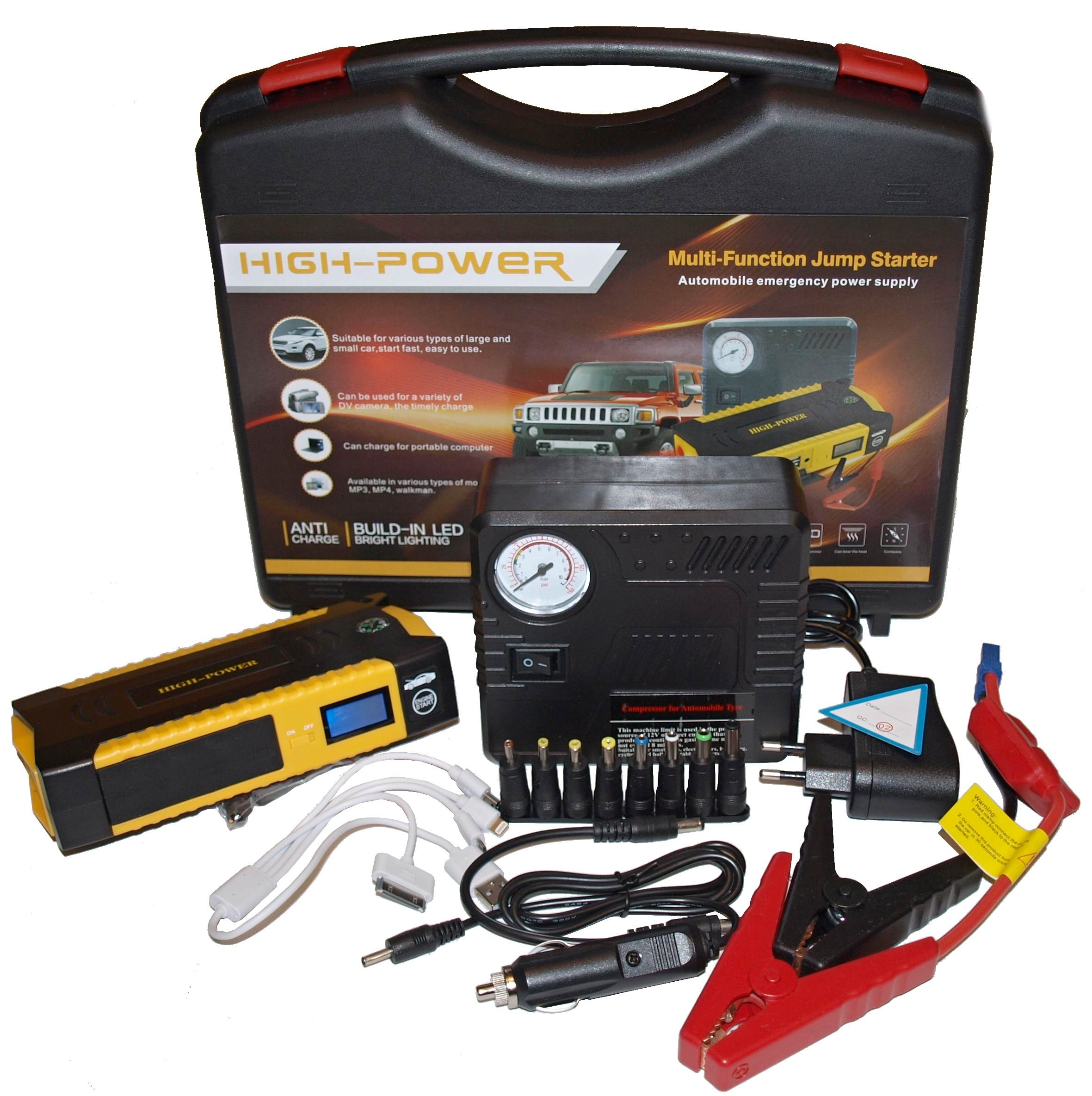VIKING Car Jump Starter ZULU III 20800mAh PLUS, Notebook powerbank, Žlutá