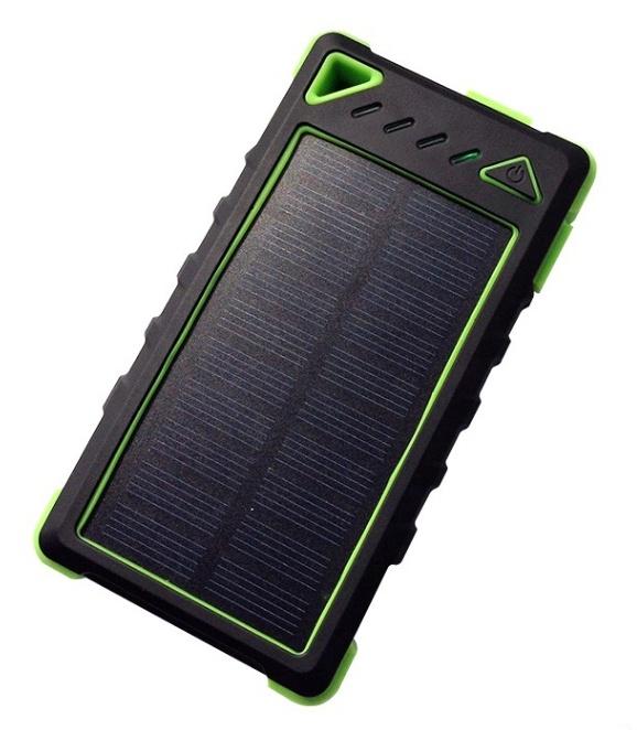 VIKING Solární outdoorová powerbanka Akula I 8000mAh, 20Led, Zelená