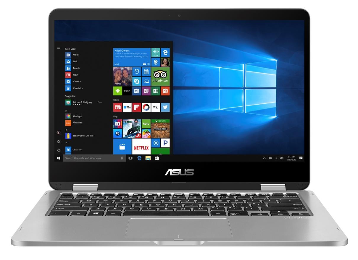 "ASUS VivoBook Flip TP401 - 14T""/N3350/64GB/4G/W10S šedý + stylus"