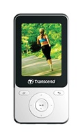 Transcend MP710 8GB MP3/MPEG4 přehrávač+FM display 2,4'',bílý