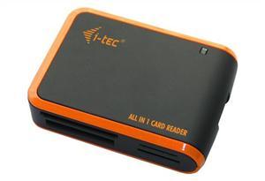 i-tec USB 2.0 All-in-One Memory Card Reader - BLACK/ORANGE Travel čtečka