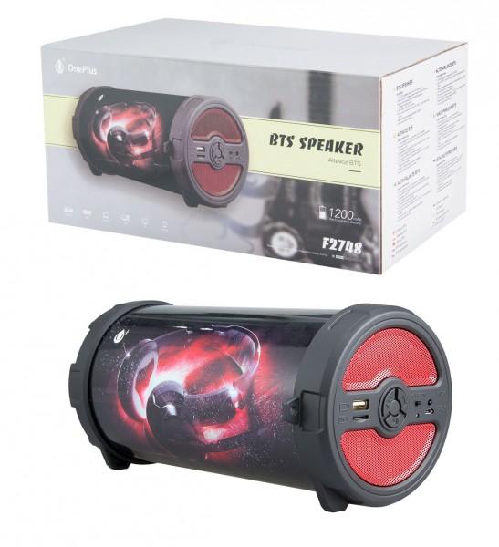 Aligator Bezdrátový Bluetooth reproduktor PLUS F2748, červená