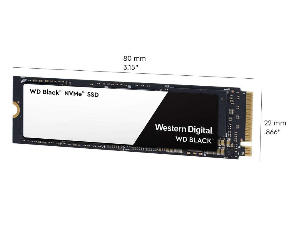 WD BLACK SSD NVMe 500GB PCIe Gen3 8 Gb/s, (R:3400, W:2500MB/s)