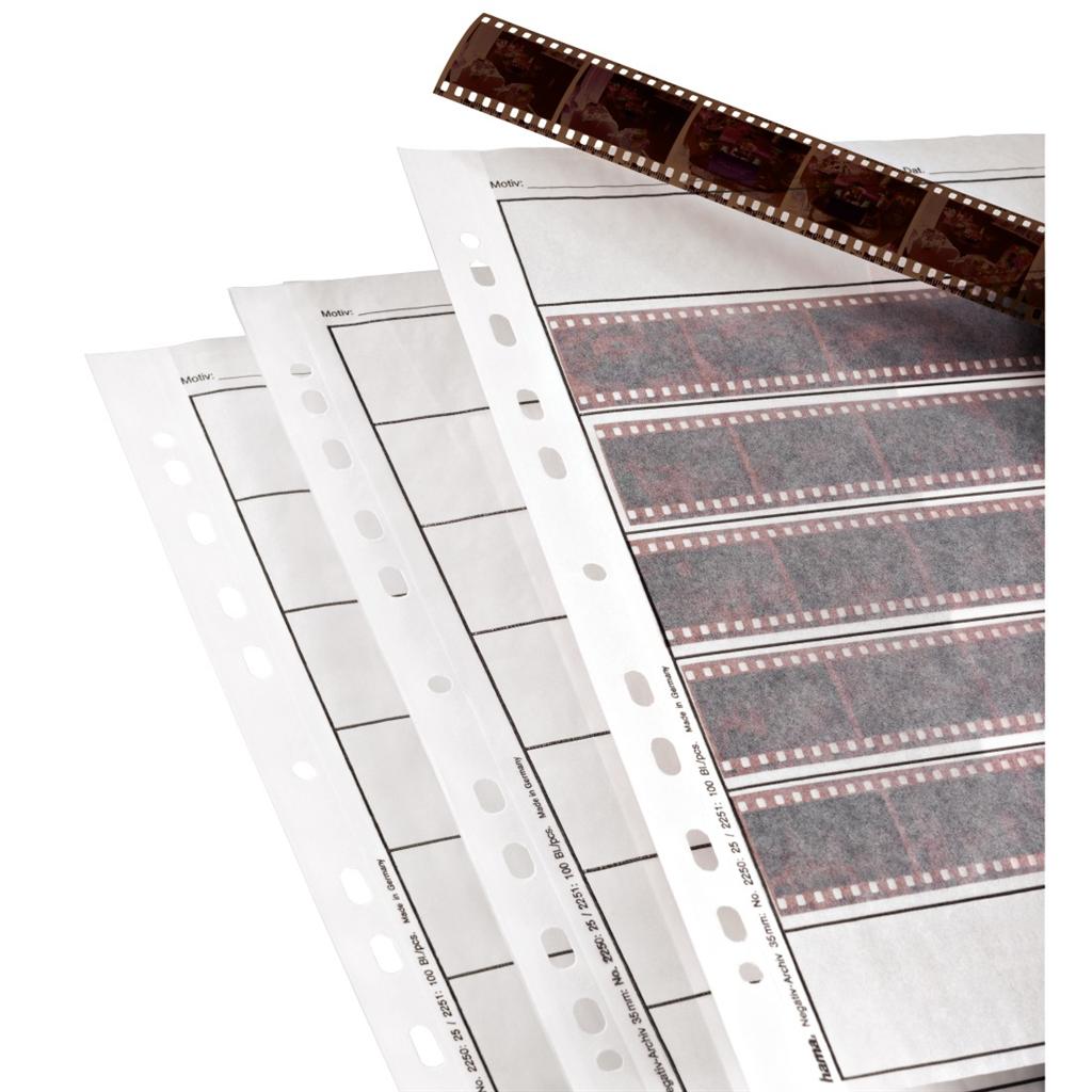 Hama obal na negativ, 24x36 mm, pergamen matný, 260x310 mm, 25 ks