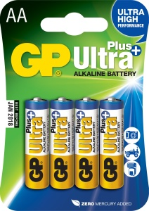 GP AA Ultra Plus, alkalická - 4 ks