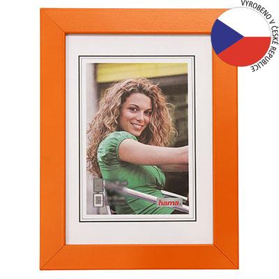 Hama rámeček dřevěný JESOLO, oranžová, 13x18cm