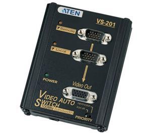 ATEN VS-201 2-portový VGA přepínač+extender 65m