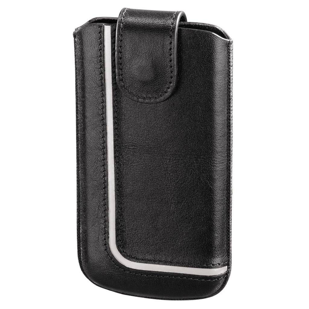 Hama pouzdro na mobilní telefon Neon Black, XL, černé/bílé