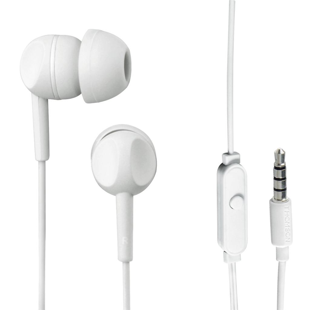 Thomson sluchátka s mikrofonem EAR3015, dárkové balení, bílá
