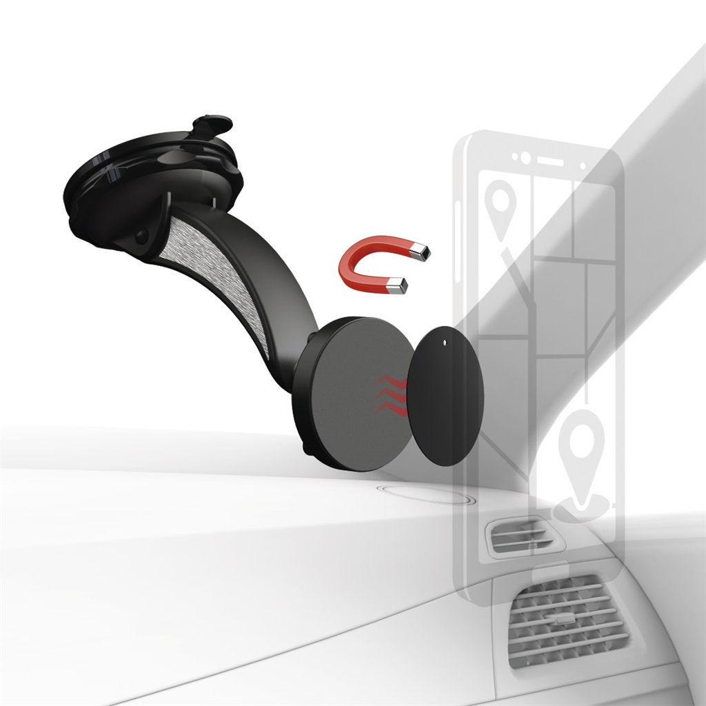 Hama Magnet, univerzální držák mobilu na přední sklo automobilu