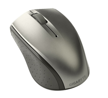 GIGABYTE Myš Mouse GM-M7770, Wireless, Laser, USB mini receiver, 800/1600 dpi, Stříbrná