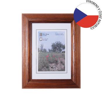 Hama 1233 rámeček dřevěný LORETA, tmavý dub, 50x70 cm