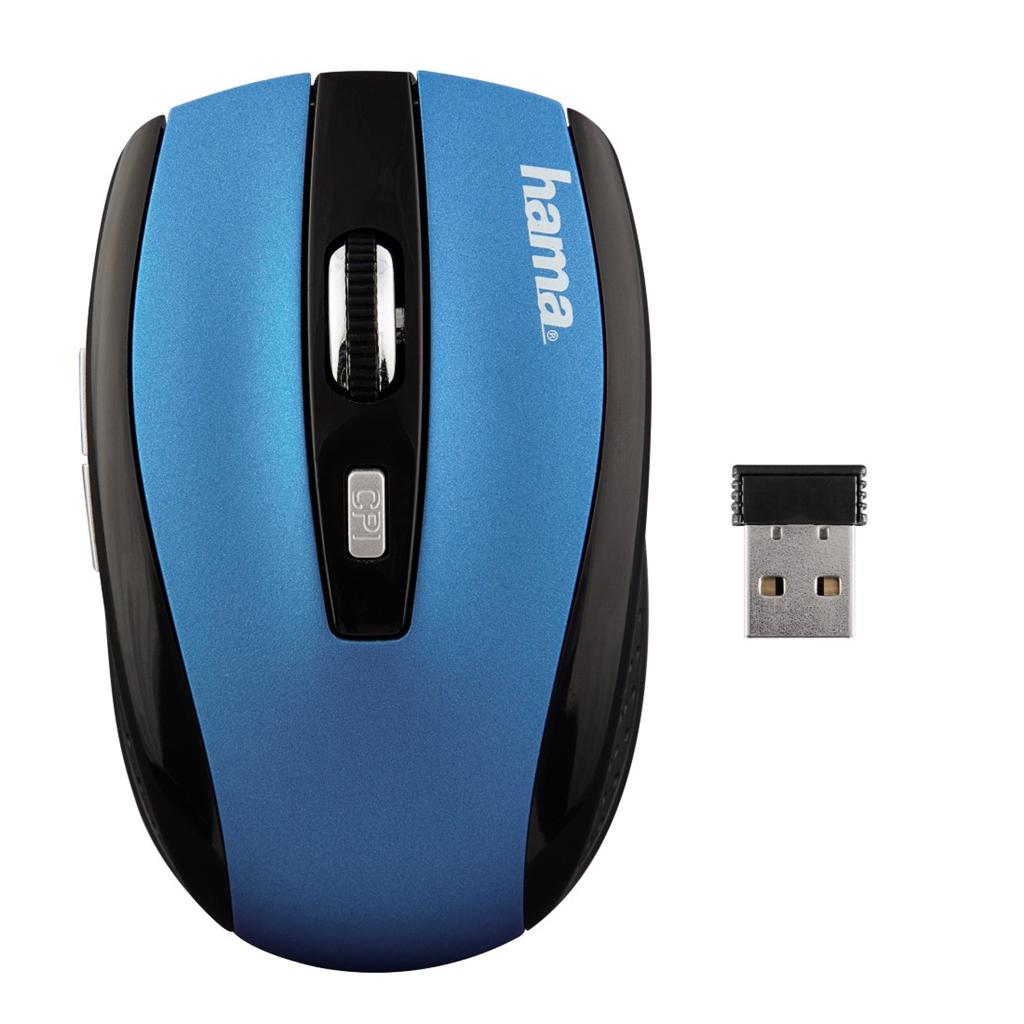 Hama optická bezdrátová myš AM-7800, petrolejová