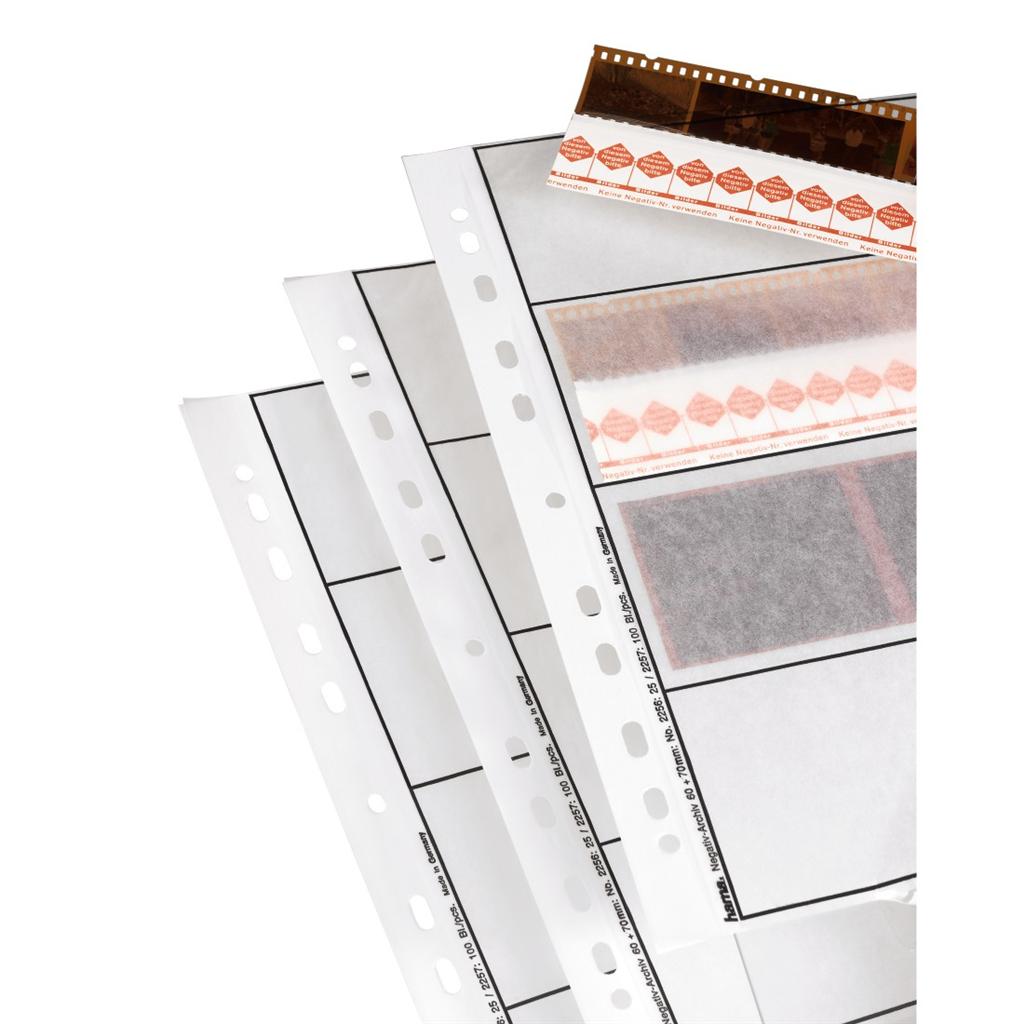 Hama obal na negativ, 24 x 36 mm, pergamen matný, 25 ks