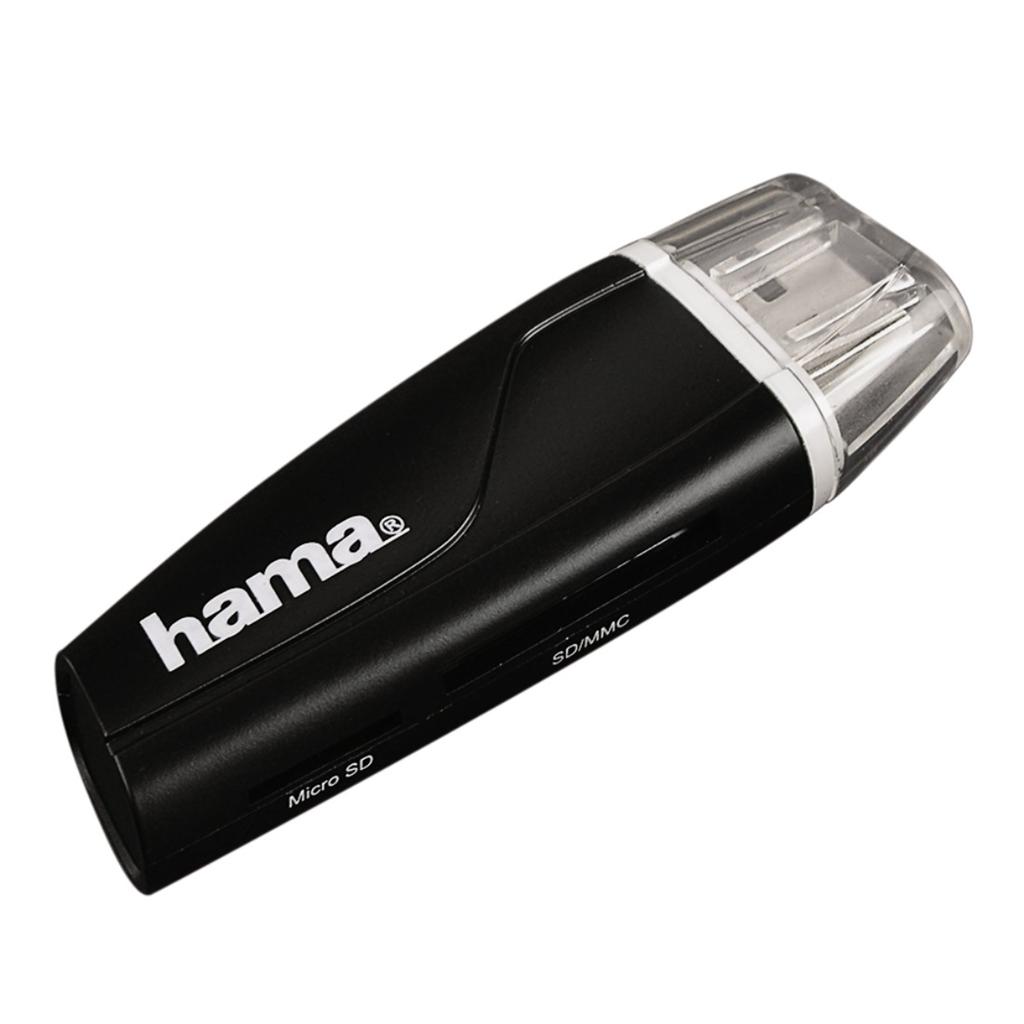 Hama čtečka karet USB 2.0 SD/microSD, černá