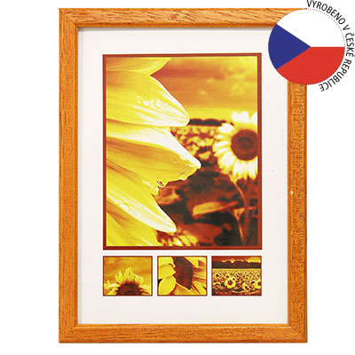 Hama 1128 rámeček dřevěný TRAVELLER II, oranžový, 10x15cm