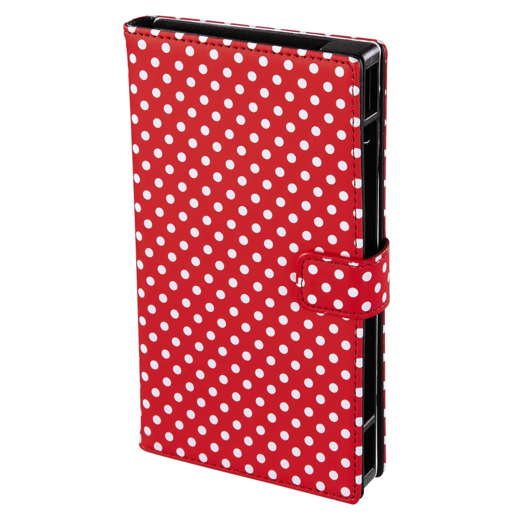 """Hama pouzdro na mobil Push, velikost 2 (pro displeje od 4,7"""" do 5,1""""), červené s bílými puntíky"""