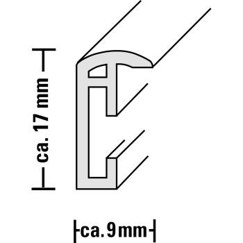 Hama rámeček plastový MADRID, černý, 21x29,7cm