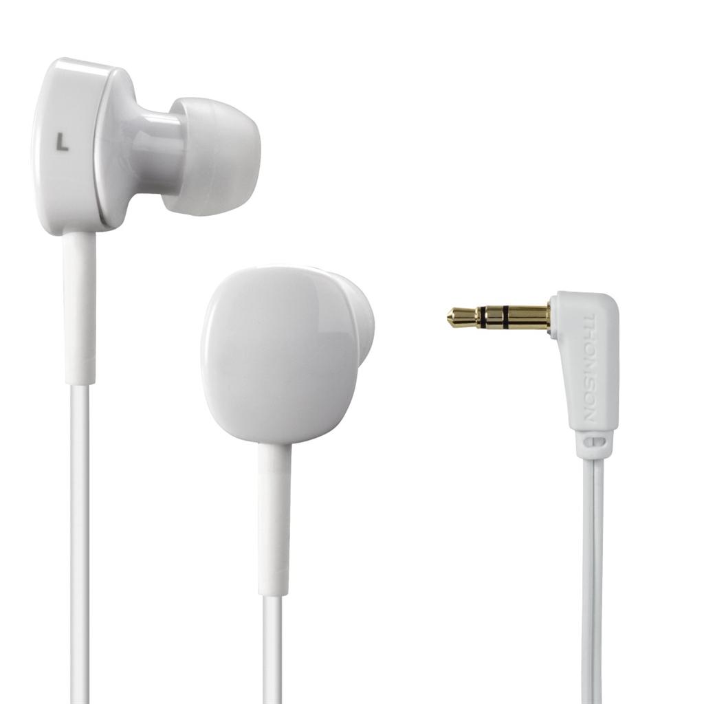 Thomson sluchátka EAR3056, silikonové špunty, bílá