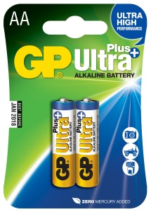 GP AA Ultra Plus, alkalická - 2 ks