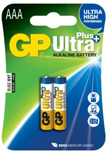 GP AAA Ultra Plus, alkalická - 2 ks