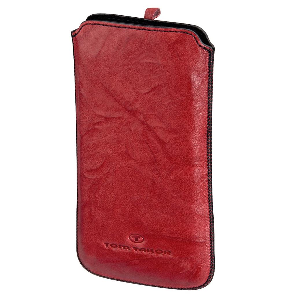 TOM TAILOR Crumpled Colors pouzdro na mobil, velikost XL, červené