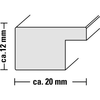 Hama rámeček dřevěný JESOLO, bílá, 10x15cm