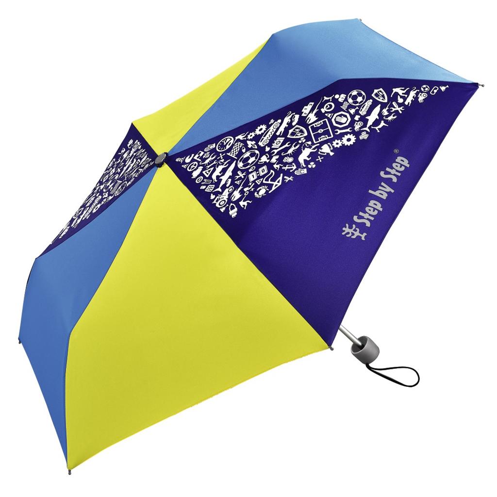 Dětský skládací deštník, žlutá/ modrá