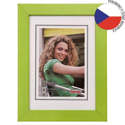 Hama rámeček dřevěný JESOLO, zelená, 13x18cm