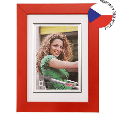 Hama rámeček dřevěný JESOLO, červená, 10x15cm