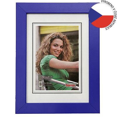Hama rámeček dřevěný JESOLO, modrá, 13x18cm
