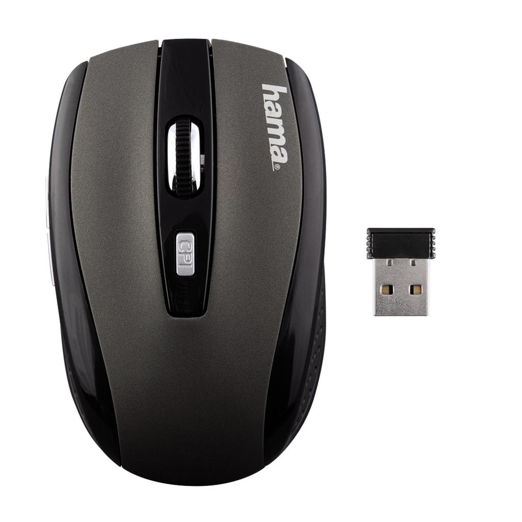Hama optická bezdrátová myš AM-7800, šedá