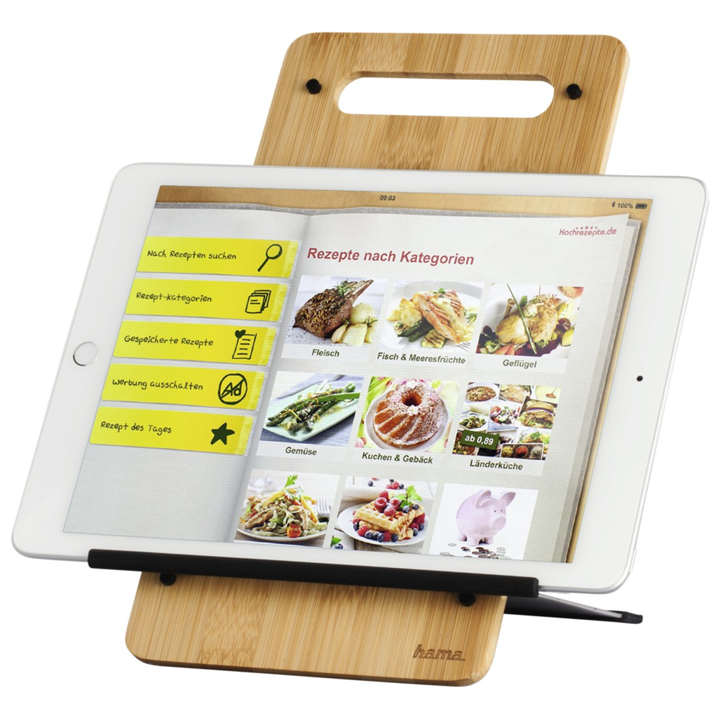 "Hama Timber stojan na tablet, 7""-10,5"", dřevěný"