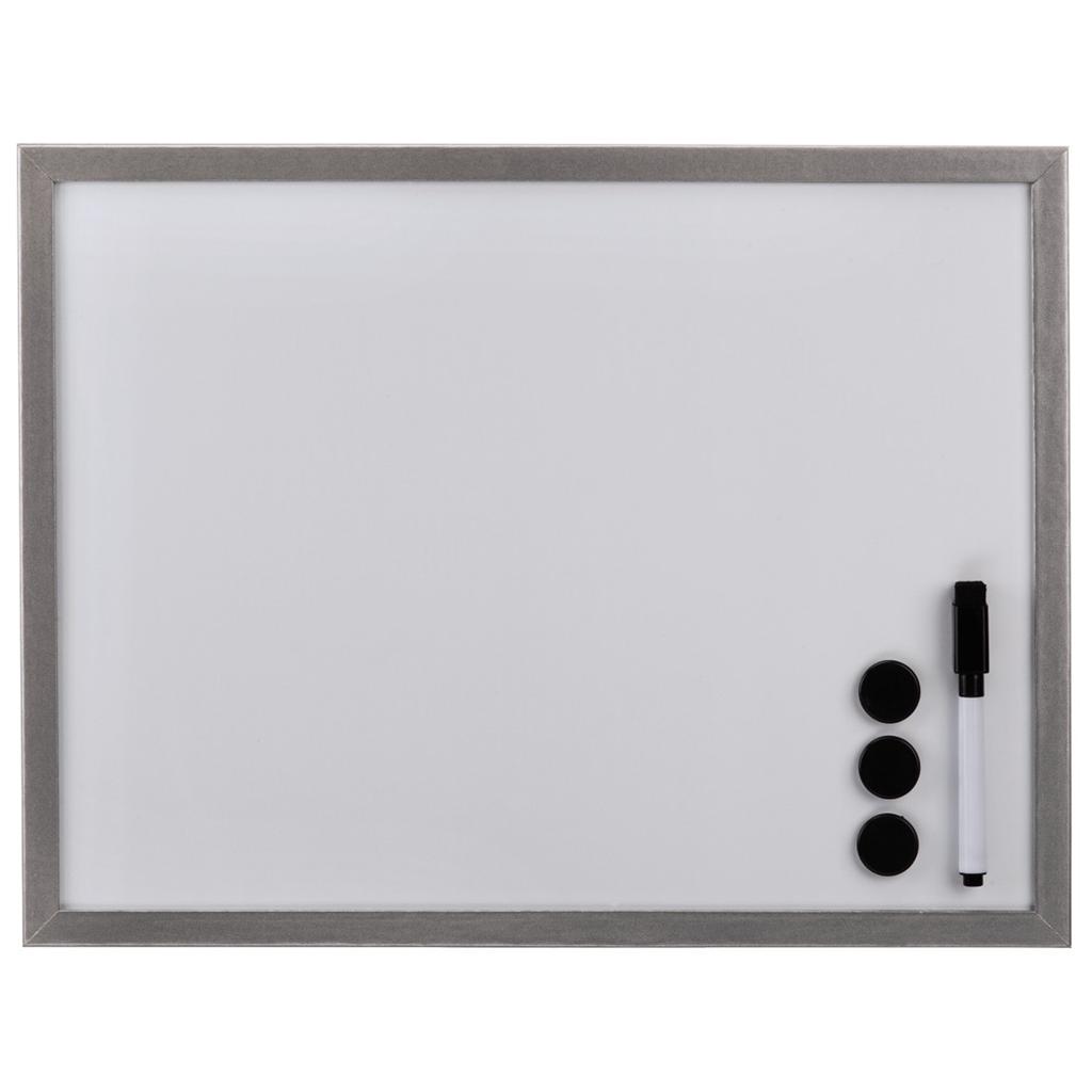 Hama bílá magnetická tabule, 60x80 cm, dřevěná, stříbrná