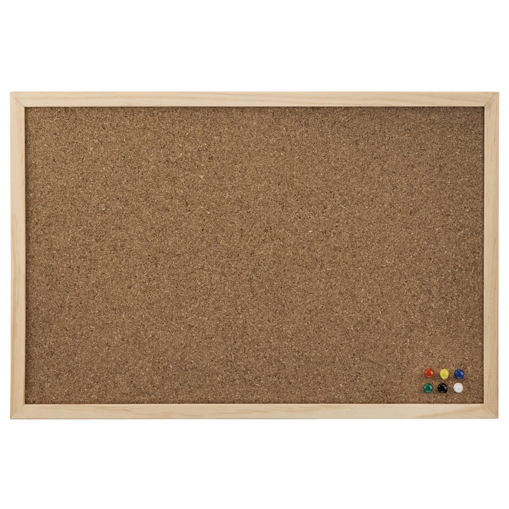 Hama korková nástěnka, 60x80 cm, dřevěná, přírodní