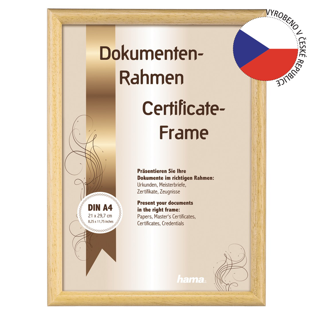 Hama rámeček dřevěný OREGON, přírodní, 21x29,7cm