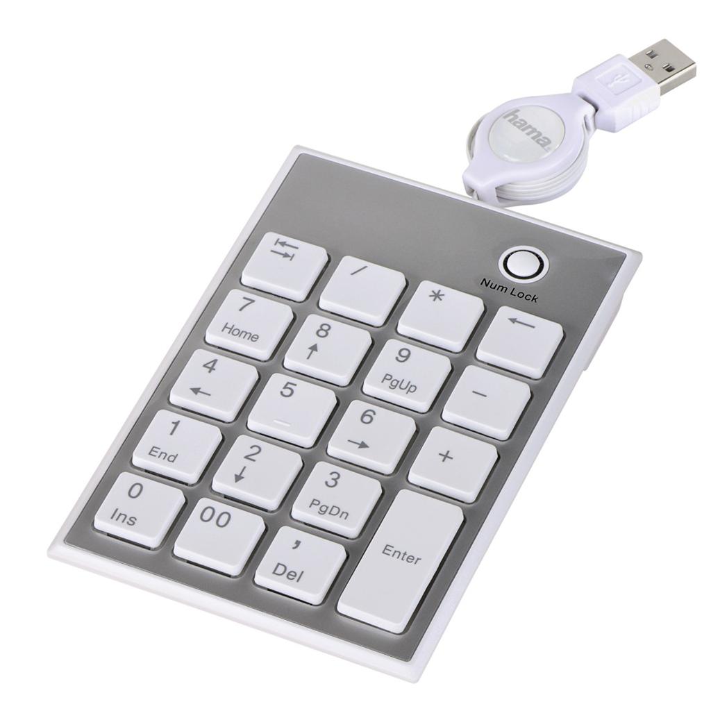 Hama numerická klávesnice SK140 Slimline, bílá