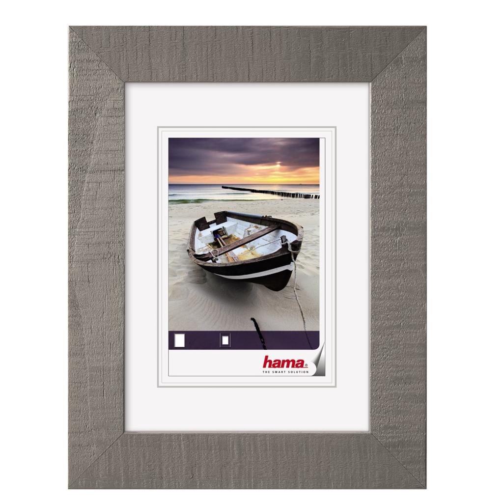 Hama rámeček dřevěný BARCHETTA, šedá, 10x15 cm