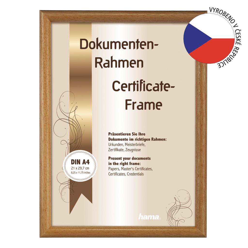 Hama rámeček dřevěný OREGON, korek, 21x29,7cm