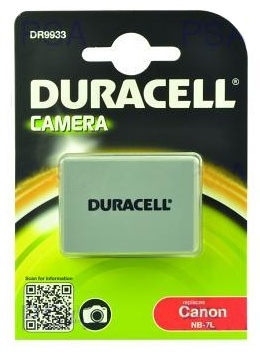 DURACELL Baterie - DR9933 pro Canon NB-7L, šedá, 1000 mAh, 7.4V