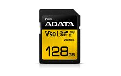 ADATA paměťová karta 128GB Premier One SDXC UHS-II U3 CL10 (čtení/zápis: 290/260MB/s)