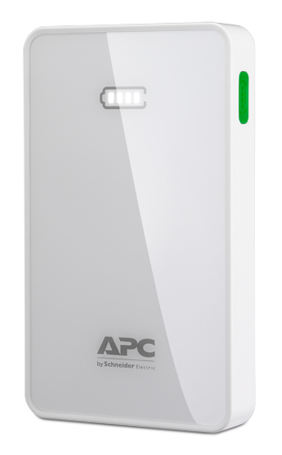 APC Mobile Power Bank, 5000mAh Li-polymer (pro smatphony, tablety) bílý