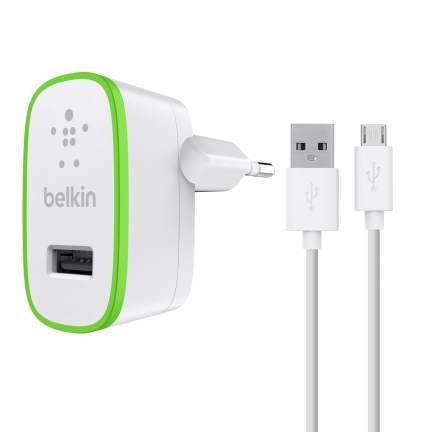 Belkin USB 230V nabíječka univerzální, 5V/2.4A vč. kabelu microUSB, bílá